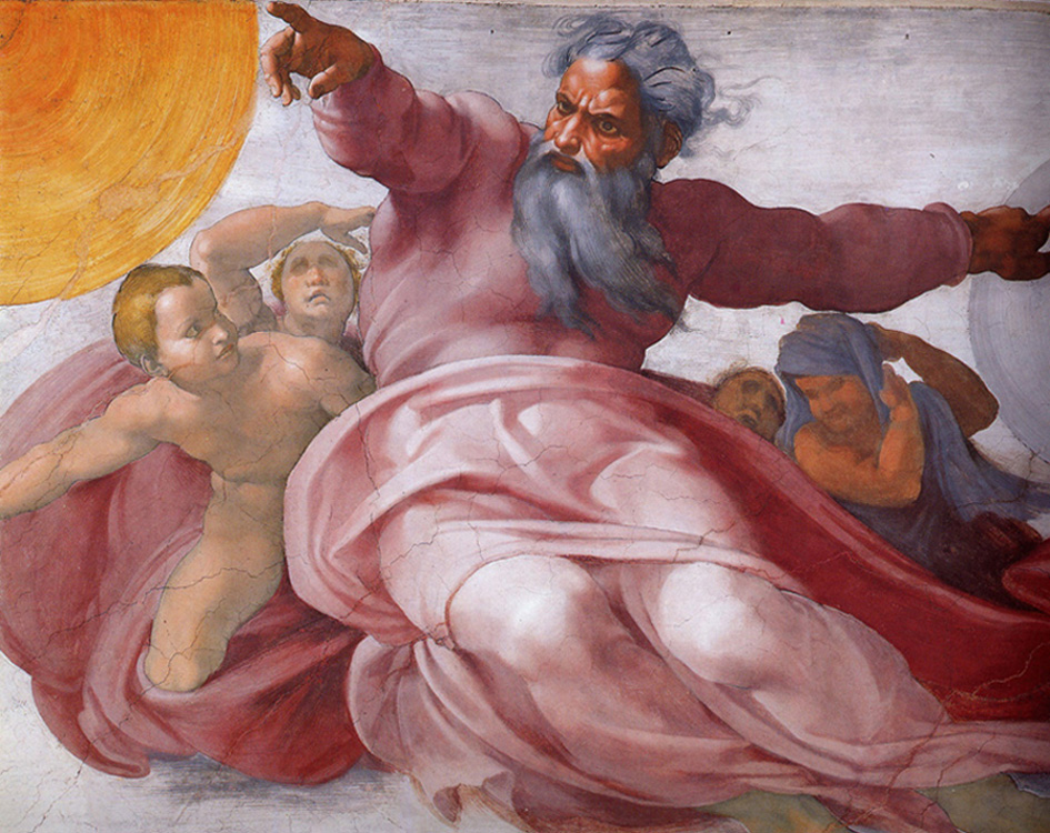 Michelangelo - God the Father, The Ceiling of the Sistine Chapel, The Vatican, 1509.