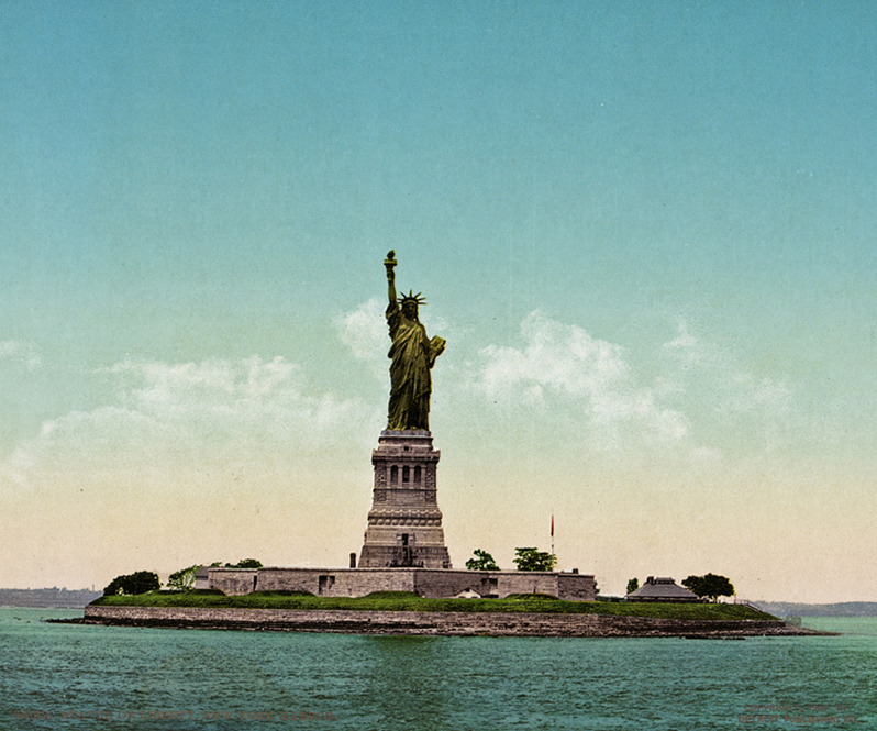 The Statue of Liberty, Liberty Island, New York, Courtesy of the Library of Congress.