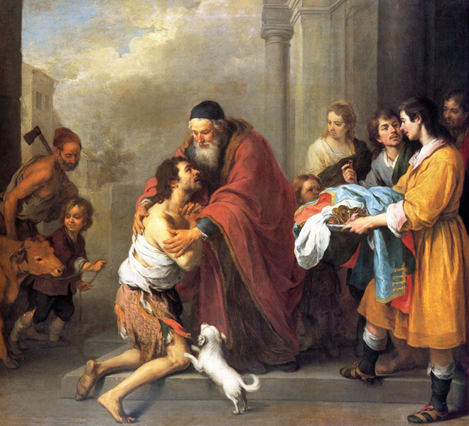 Bartolome Esteban Murillo - The Return of the Prodigal Son (Luke 15:11-32), Seville, Spain, 1670, National Gallery of Art, Washington, D. C.